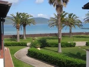 Seitlicher Meerblick vom Balkon unserer Junior Suite (© Redaktion - Portanapoli.com)