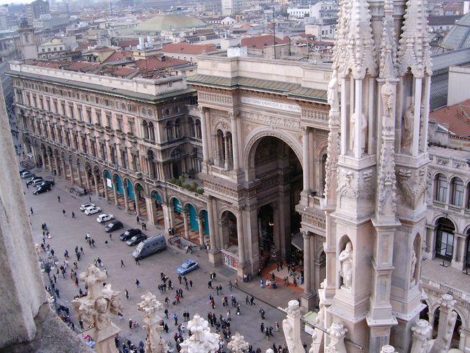 Blick vom Dach des Mailänder Doms (© Redaktion - Portanapoli.com)