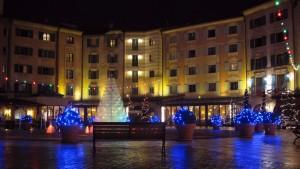 Weihnachtliche Stimmung auf der Piazza des Hotels Colosseo (© Redaktion