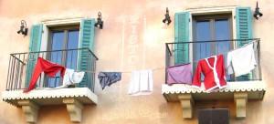 Im Europapark-Hotel Colosseo trocknet die Wäsche auf dem Balkon (© Redaktion - Portanapoli.com)