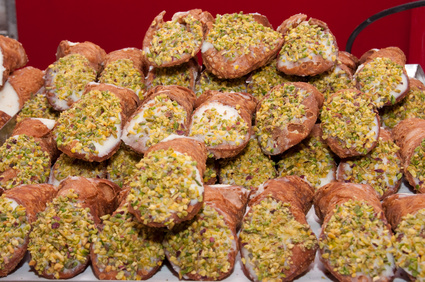 Sizilianische Cannoli mit Pistazien (viappy - Fotolia)
