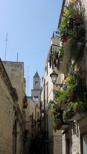Malerische Gasse in Bari