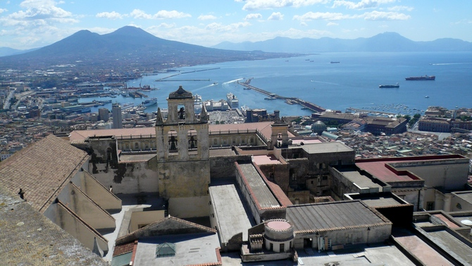 Panorama von San Martino - links der Vesuv
