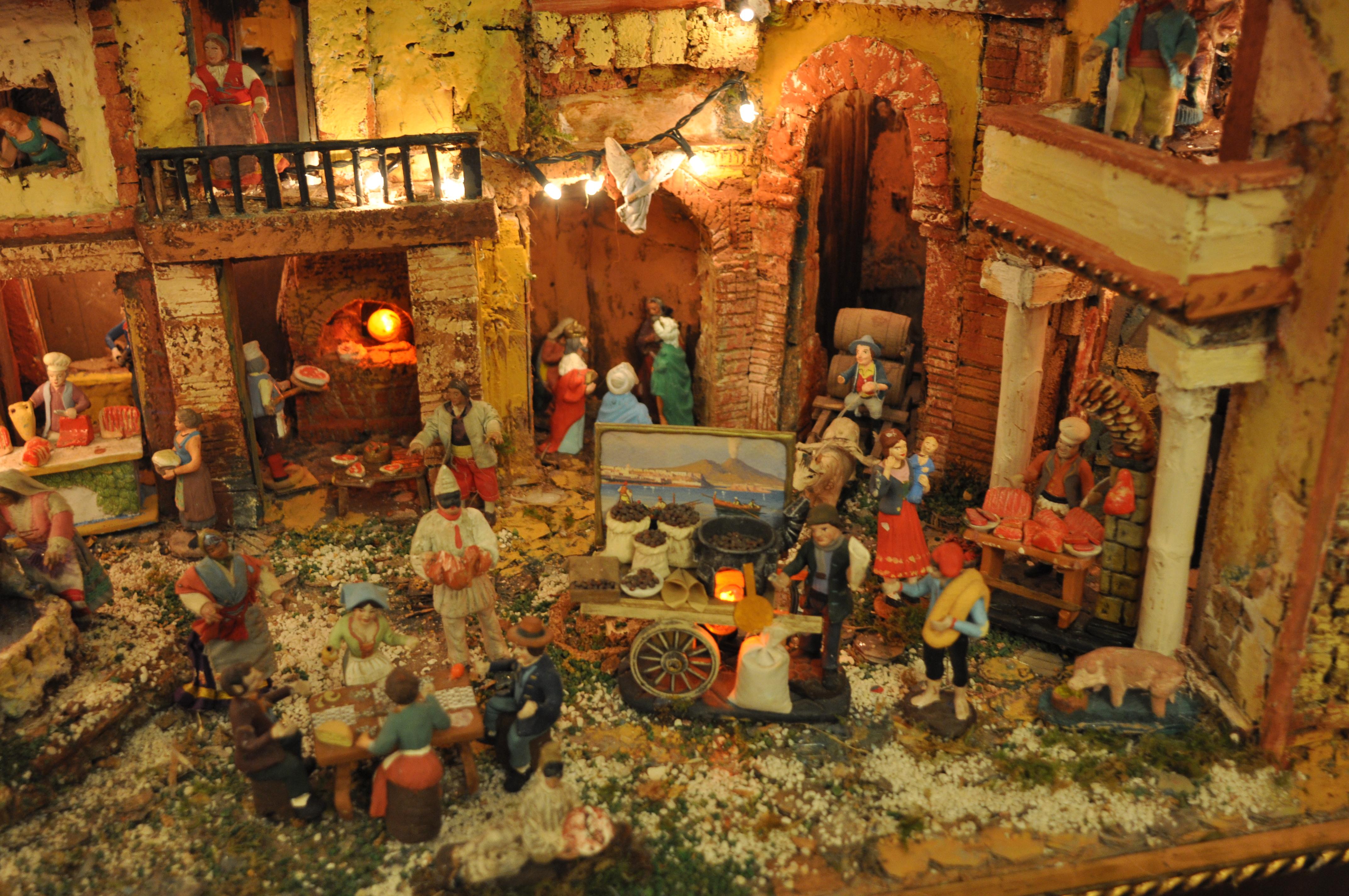 Neapolitanische Weihnachtskrippe, erbaut von Luigi Buommino