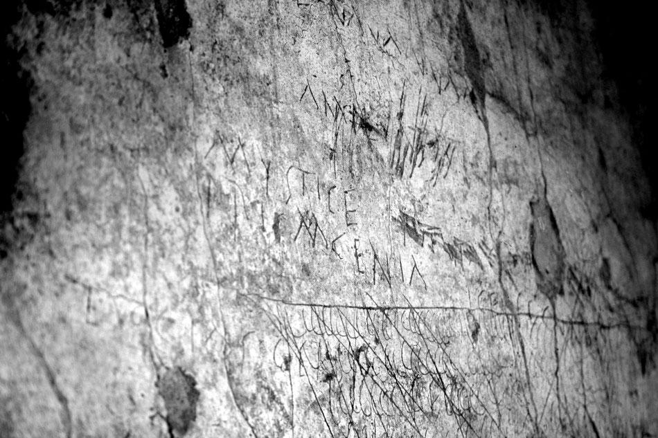 Inschrift in Pompeji (© Navis Musik)