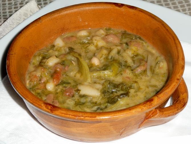 Zuppa Fagioli verdura - Eintopf mit Bohnen und Mangold